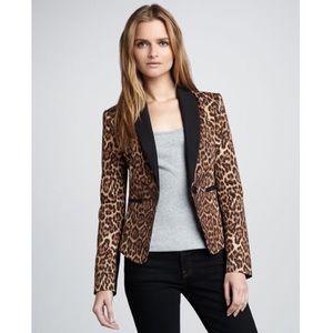 BCBG Max Azria leopard print Blazer Size small